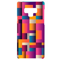 Abstract Background Geometry Blocks Samsung Note 9 Black Uv Print Case