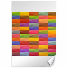 Abstract Background Geometric Canvas 24  X 36
