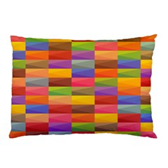 Abstract Background Geometric Pillow Case (two Sides)