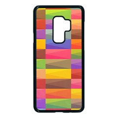 Abstract Background Geometric Samsung Galaxy S9 Plus Seamless Case(black)
