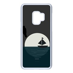 Birds Moon Moonlight Tree Animal Samsung Galaxy S9 Seamless Case(white)