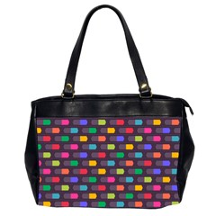 Background Colorful Geometric Oversize Office Handbag (2 Sides) by HermanTelo