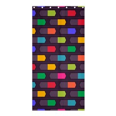 Background Colorful Geometric Shower Curtain 36  X 72  (stall)