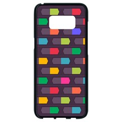 Background Colorful Geometric Samsung Galaxy S8 Black Seamless Case by HermanTelo