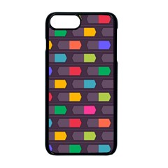 Background Colorful Geometric Iphone 8 Plus Seamless Case (black)
