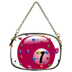 Billiard Ball Ball Game Pink Chain Purse (one Side) by HermanTelo