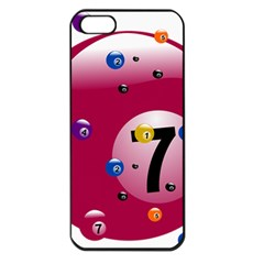 Billiard Ball Ball Game Pink Iphone 5 Seamless Case (black) by HermanTelo