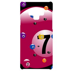 Billiard Ball Ball Game Pink Samsung Note 9 Black Uv Print Case  by HermanTelo