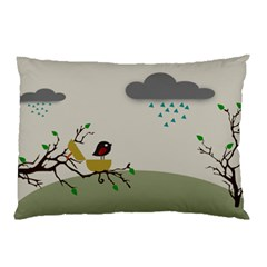 Birds Tree Animal Black Tree Pillow Case (two Sides)