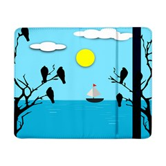 Birds Sun Tree Animal Black Tree Samsung Galaxy Tab Pro 8 4  Flip Case by HermanTelo