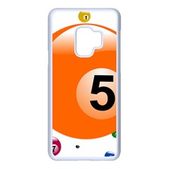 Billiard Ball Ball Game Pink Orange Samsung Galaxy S9 Seamless Case(white) by HermanTelo