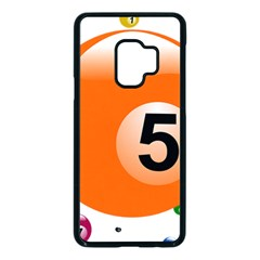 Billiard Ball Ball Game Pink Orange Samsung Galaxy S9 Seamless Case(black) by HermanTelo
