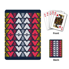 Background Colorful Geometric Unique Playing Cards Single Design
