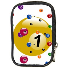 Billiard Ball Ball Game Compact Camera Leather Case by HermanTelo