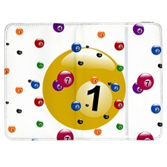 Billiard Ball Ball Game Samsung Galaxy Tab 7  P1000 Flip Case by HermanTelo