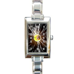 Abstract Exploding Design Rectangle Italian Charm Watch by HermanTelo