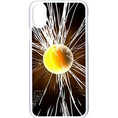 Abstract Exploding Design Iphone X Seamless Case (white)