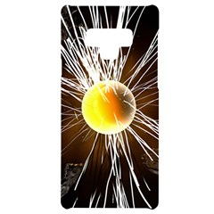Abstract Exploding Design Samsung Note 9 Black Uv Print Case  by HermanTelo
