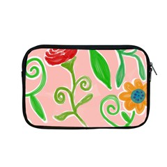 Background Colorful Floral Flowers Apple Macbook Pro 13  Zipper Case