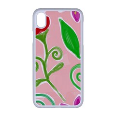 Background Colorful Floral Flowers Iphone Xr Seamless Case (white)