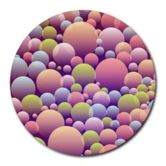 Abstract Background Circle Bubbles Round Mousepads by HermanTelo