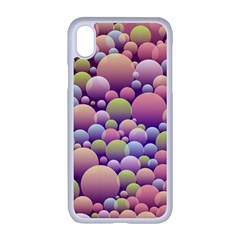Abstract Background Circle Bubbles Iphone Xr Seamless Case (white)