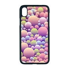 Abstract Background Circle Bubbles Iphone Xr Seamless Case (black)
