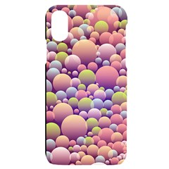 Abstract Background Circle Bubbles Iphone X/xs Black Uv Print Case