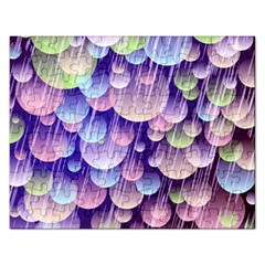 Abstract Background Circle Bubbles Space Rectangular Jigsaw Puzzl by HermanTelo