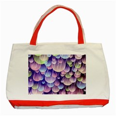 Abstract Background Circle Bubbles Space Classic Tote Bag (red) by HermanTelo