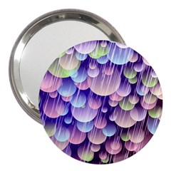 Abstract Background Circle Bubbles Space 3  Handbag Mirrors