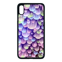 Abstract Background Circle Bubbles Space Iphone Xs Max Seamless Case (black)