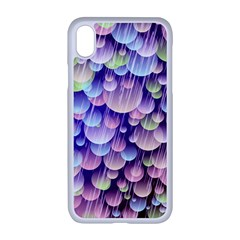Abstract Background Circle Bubbles Space Iphone Xr Seamless Case (white)