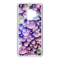 Abstract Background Circle Bubbles Space Samsung Galaxy S9 Seamless Case(white)