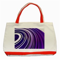 Circle Concentric Render Metal Classic Tote Bag (red) by HermanTelo