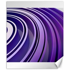 Circle Concentric Render Metal Canvas 8  X 10