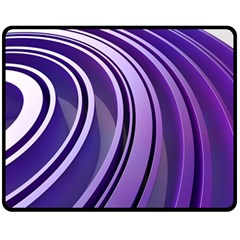 Circle Concentric Render Metal Double Sided Fleece Blanket (medium)  by HermanTelo