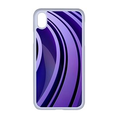 Circle Concentric Render Metal Iphone Xr Seamless Case (white)
