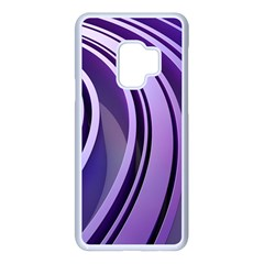 Circle Concentric Render Metal Samsung Galaxy S9 Seamless Case(white)