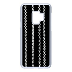 Chains Black Design Metal Iron Samsung Galaxy S9 Seamless Case(white)
