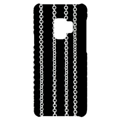 Chains Black Design Metal Iron Samsung S9 Black Uv Print Case by HermanTelo