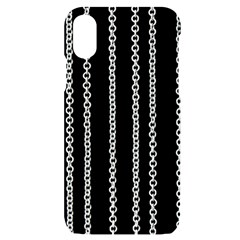 Chains Black Design Metal Iron Iphone X/xs Black Uv Print Case
