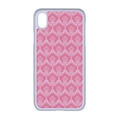 Damask Floral Design Seamless Iphone Xr Seamless Case (white)