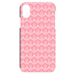 Damask Floral Design Seamless Iphone X/xs Black Uv Print Case