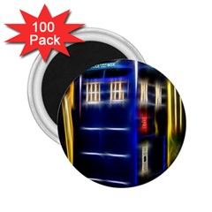 Famous Blue Police Box 2 25  Magnets (100 Pack)  by HermanTelo