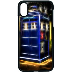Famous Blue Police Box Iphone Xs Seamless Case (black)