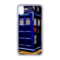 Famous Blue Police Box Iphone Xr Seamless Case (white)