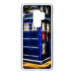 Famous Blue Police Box Samsung Galaxy S9 Plus Seamless Case(white) by HermanTelo