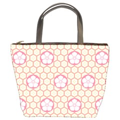 Floral Design Seamless Wallpaper Bucket Bag by HermanTelo