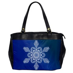 Flake Crystal Snow Winter Ice Oversize Office Handbag by HermanTelo